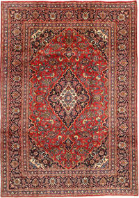 Mashad Rug 201X290 Authentic  Oriental Handknotted Brown/Rust Red (Wool, Persia/Iran)