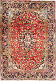 Keshan Rug 203X296 Authentic  Oriental Handknotted Dark Red/Rust Red (Wool, Persia/Iran)