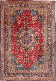 Mashad Teppe 196X297 Ekte Orientalsk Håndknyttet Mørk Rød/Rust (Ull, Persia/Iran)