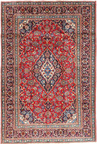Mashad Rug 191X284 Authentic  Oriental Handknotted Dark Grey/Dark Red (Wool, Persia/Iran)