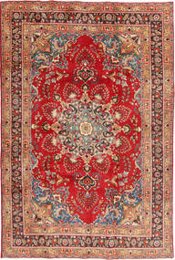 Meszhed Dywan 197X295 Orientalny Tkany Ręcznie Rdzawy/Czerwony/Ciemnoczerwony (Wełna, Persja/Iran)