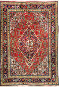 Tabriz Rug 207X298 Authentic  Oriental Handknotted Dark Red/Dark Grey (Wool, Persia/Iran)