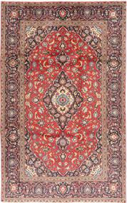 カシャン 絨毯 188X301 オリエンタル 手織り 紫/黒 (ウール, ペルシャ/イラン)