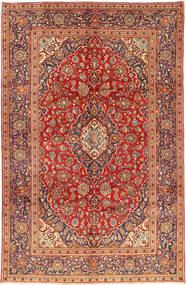 Keshan Matta 192X300 Äkta Orientalisk Handknuten Mörkröd/Roströd (Ull, Persien/Iran)