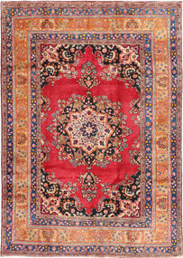 Mashad Rug 197X280 Authentic  Oriental Handknotted Rust Red/Light Brown (Wool, Persia/Iran)
