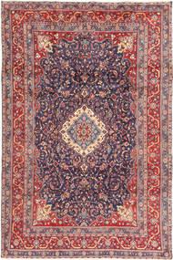 Hamadan Shahrbaf Tapis 205X316 D'orient Fait Main Gris Foncé/Rouille/Rouge (Laine, Perse/Iran)