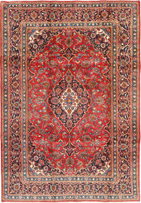 Mashad Rug 195X286 Authentic  Oriental Handknotted Rust Red/Brown (Wool, Persia/Iran)