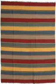 Kelim Matto 162X288 Itämainen Käsinkudottu Vaaleanruskea/Tummanpunainen (Villa, Persia/Iran)