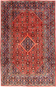 Mahal Rug 206X324 Authentic  Oriental Handknotted Dark Red/Dark Brown (Wool, Persia/Iran)