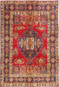 Tabriz Alfombra 196X296 Oriental Hecha A Mano Marrón Claro/Óxido/Roja (Lana, Persia/Irán)