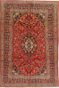 Mashad Rug 192X291 Authentic  Oriental Handknotted Rust Red/Light Brown (Wool, Persia/Iran)