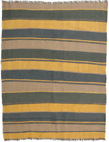 Kelim Teppe 158X205 Ekte Orientalsk Håndvevd Lysbrun/Mørk Grå (Ull, Persia/Iran)