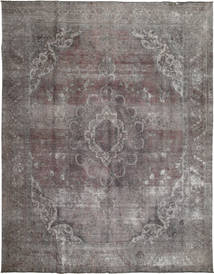 Colored Vintage Rug 290X376 Authentic  Modern Handknotted Light Grey/Dark Grey/Dark Brown Large (Wool, Pakistan)