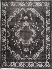 Colored Vintage Rug 278X377 Authentic  Modern Handknotted Dark Brown/Dark Grey/Light Grey Large (Wool, Pakistan)