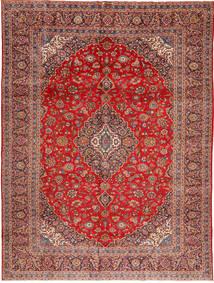Kashan Szőnyeg 295X390 Keleti Csomózású Barna/Rozsdaszín Nagy (Gyapjú, Perzsia/Irán)
