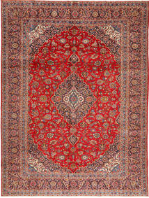 Keshan Rug 295X390 Authentic  Oriental Handknotted Dark Red/Rust Red Large (Wool, Persia/Iran)