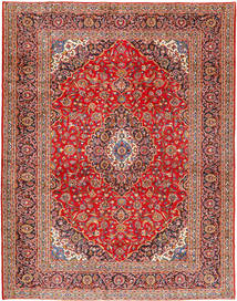 Keshan Rug 306X390 Authentic  Oriental Handknotted Rust Red/Brown Large (Wool, Persia/Iran)