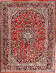 Keshan Rug 300X390 Authentic  Oriental Handknotted Brown/Rust Red Large (Wool, Persia/Iran)