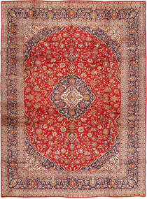 Keshan Rug 295X405 Authentic  Oriental Handknotted Rust Red/Light Brown Large (Wool, Persia/Iran)