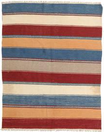 Kilim Rug 134X176 Authentic  Oriental Handwoven Light Brown/Dark Red (Wool, Persia/Iran)