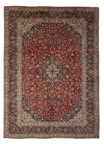 Keshan Rug 292X400 Authentic  Oriental Handknotted Brown/Light Brown Large (Wool, Persia/Iran)