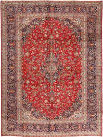 Keshan Rug 305X410 Authentic  Oriental Handknotted Dark Red/Rust Red Large (Wool, Persia/Iran)