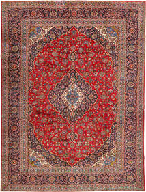 Keshan Signature : Kashan Feyzi Rug 300X400 Authentic  Oriental Handknotted Dark Red/Dark Brown/Rust Red Large (Wool, Persia/Iran)