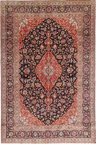 Keshan Rug 258X383 Authentic  Oriental Handknotted Brown/Dark Green Large (Wool, Persia/Iran)