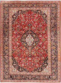 Keshan Rug 224X315 Authentic  Oriental Handknotted Dark Brown/Rust Red (Wool, Persia/Iran)