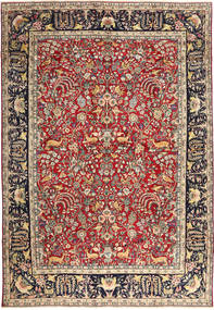 Yazd Pictorial Rug 288X410 Authentic  Oriental Handknotted Brown/Black Large (Wool, Persia/Iran)