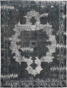 Colored Vintage Rug 290X377 Authentic  Modern Handknotted Dark Grey/Dark Blue Large (Wool, Persia/Iran)