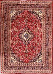 Keshan Rug 245X342 Authentic  Oriental Handknotted Dark Red/Rust Red (Wool, Persia/Iran)
