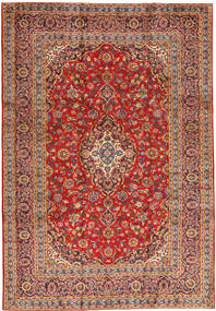 Keshan Rug 243X355 Authentic  Oriental Handknotted Brown/Rust Red (Wool, Persia/Iran)