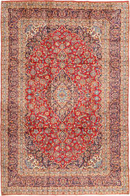 Keshan Koberec 250X378 Orientální Ručně Tkaný Červenožlutá/Světle Hnědá Velký (Vlna, Persie/Írán)