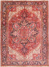 Heriz Tæppe 260X354 Ægte Orientalsk Håndknyttet Mørkelilla/Rust Stort (Uld, Persien/Iran)