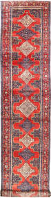 Senneh Rug 120X574 Authentic  Oriental Handknotted Hallway Runner  Purple/Light Grey (Wool, Persia/Iran)