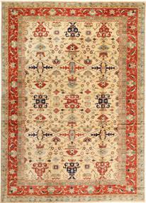 Kazak Teppich  302X423 Echter Orientalischer Handgeknüpfter Dunkel Beige/Rot Großer (Wolle, Pakistan)