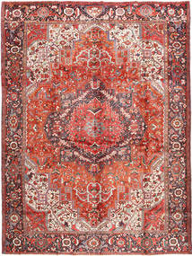 Heriz Rug 340X440 Authentic  Oriental Handknotted Rust Red/Light Brown Large (Wool, Persia/Iran)