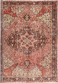 Heriz Rug 345X445 Authentic  Oriental Handknotted Brown/Light Brown Large (Wool, Persia/Iran)