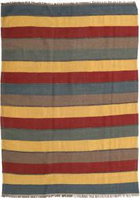 Kelim Teppe 176X265 Ekte Orientalsk Håndvevd Lysbrun/Mørk Rød (Ull, Persia/Iran)