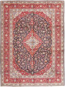Keshan Koberec 303X410 Orientální Ručně Tkaný Nachový/Světle Hnědá Velký (Vlna, Persie/Írán)