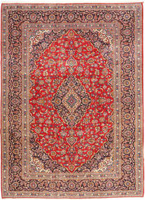 Keshan Koberec 258X352 Orientální Ručně Tkaný Hnědá/Červenožlutá Velký (Vlna, Persie/Írán)