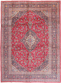 Keshan Signed : Khali Rug 292X402 Authentic  Oriental Handknotted Rust Red/Pink Large (Wool, Persia/Iran)