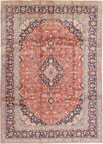 Keshan Signed : Kashan Ghotbi Rug 242X345 Authentic  Oriental Handknotted Light Grey/Beige (Wool, Persia/Iran)