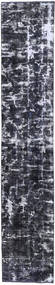 Colored Vintage Rug 70X380 Authentic  Modern Handknotted Hallway Runner  Dark Grey/Light Grey (Wool, Persia/Iran)