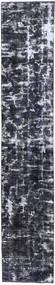 Colored Vintage Rug 70X380 Authentic  Modern Handknotted Hallway Runner  Dark Grey (Wool, Persia/Iran)