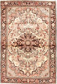 Hamadan Rug 100X155 Authentic  Oriental Handknotted Light Brown/Light Pink (Wool, Persia/Iran)