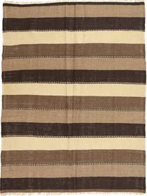 Kilim Tapete 155X205 Oriental Tecidos À Mão Castanho Escuro/Castanho Claro/Castanho (Lã, Pérsia/Irão)