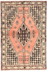 Hamadan Matto 130X200 Itämainen Käsinsolmittu Vaaleanpunainen/Tummanruskea (Villa, Persia/Iran)