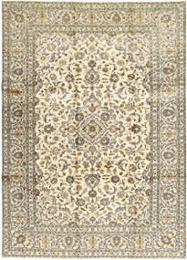 Keshan Rug 250X347 Authentic  Oriental Handknotted Beige/Light Brown Large (Wool, Persia/Iran)